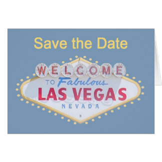 Las Vegas Save the Date Cards