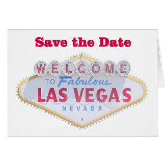 Las Vegas Save the Date Cards