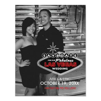 Las Vegas Save-the-Date Custom Postcard