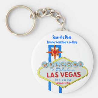 Las Vegas Save the Date Customized Occasion Keychain