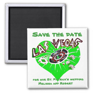 Las Vegas Save the Date Green Magnet