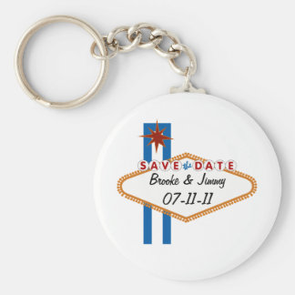 Las Vegas Save the Date Basic Round Button Keychain
