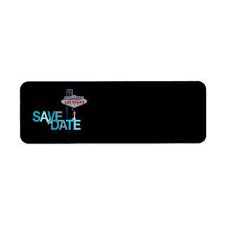 Las Vegas Save the Date Label