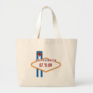 Las Vegas Save the Date Large Tote Bag