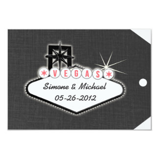 Las Vegas Save the Date Luggage Tag Card