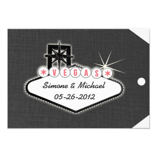 Las Vegas Save the Date Luggage Tag Personalized Announcements