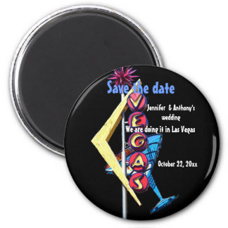 Las Vegas Save the Date Neon Sign Magnet