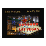 Las Vegas Save The Date Photo Cards--5x7 Custom Invitations
