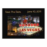 Las Vegas Save The Date Photo Cards--5x7 Custom Invitations