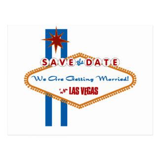 Las Vegas Save the Date Postcard
