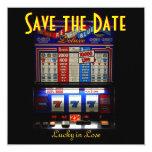 Las Vegas Save the Date Slot Machine Invitations