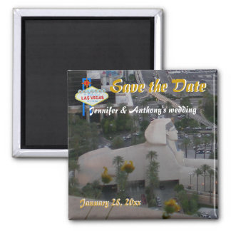Las Vegas Save the Date Strip View Magnet