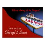Las Vegas Save The Date (tomato red) Postcard