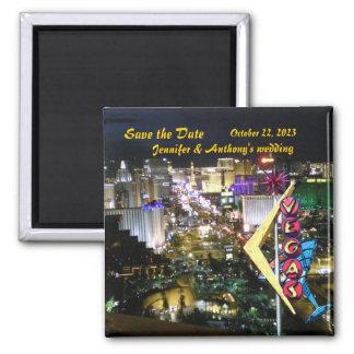 Las Vegas Save the Date Vintage Neon sign Magnet