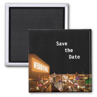 "Las Vegas ""Save the Date"" Wedding Keychain Magnet"