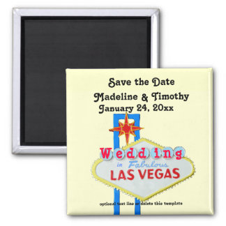 Las Vegas Save the Date Wedding Neon Sign Magnet