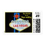 Las Vegas Save the Date wedding Postage