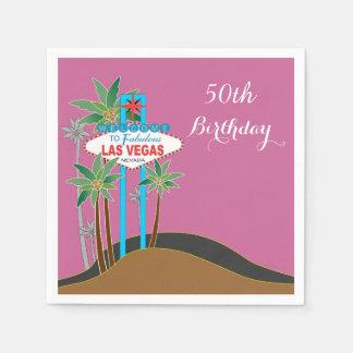 Las Vegas Scene Birthday Paper Napkins