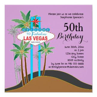 Las Vegas Scenic Birthday Party Invitation