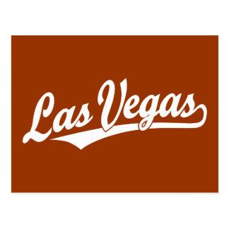 Las Vegas script logo in white Postcard