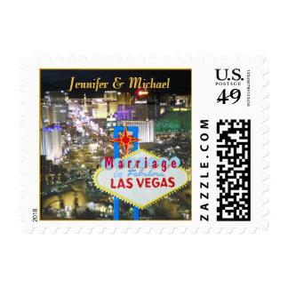 Las Vegas se casó anuncia Sello Postal