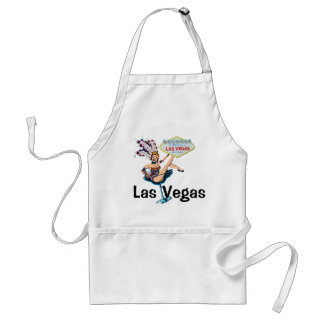 Las Vegas Showgirl and Sign Adult Apron