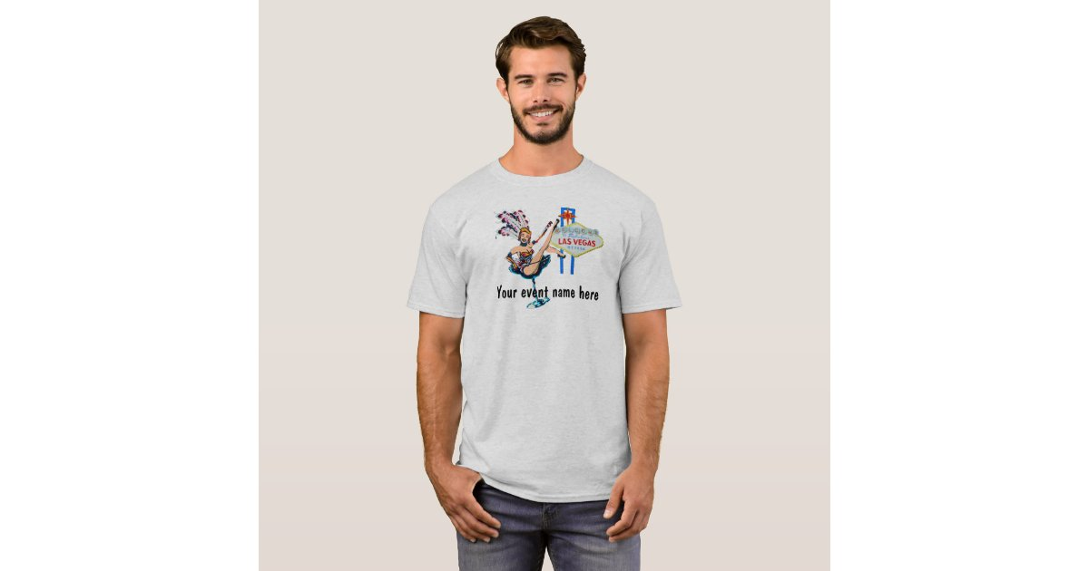 Las vegas showgirl custom event t shirt zazzle for Custom t shirt las vegas
