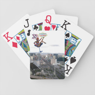 Las Vegas Showgirl with Welcome Sign Bicycle Playing Cards