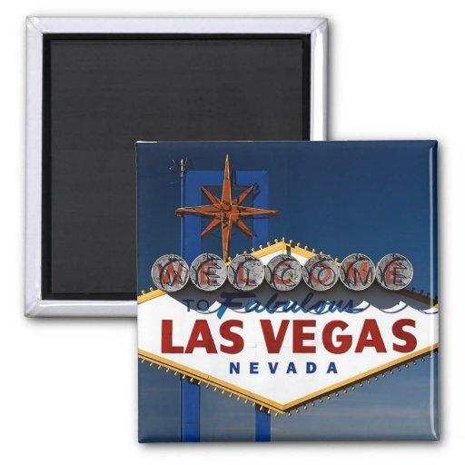 Las Vegas Sign 2 Inch Square Magnet