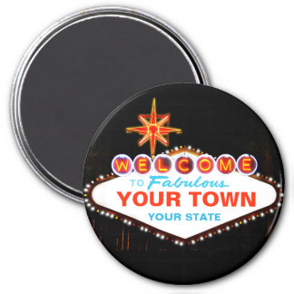 Las Vegas Sign 3 Inch Round Magnet