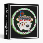 Las Vegas Sign And Two Kings Poker Chip Binder