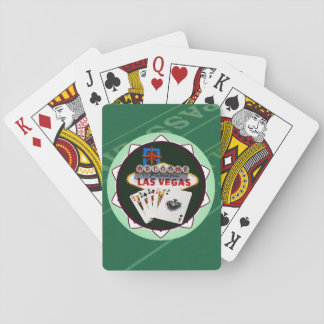 Las Vegas Sign And Two Kings Poker Chip Card Decks