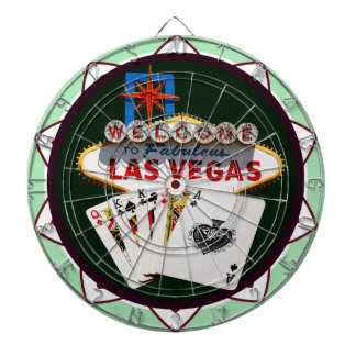 Las Vegas Sign And Two Kings Poker Chip Dartboards