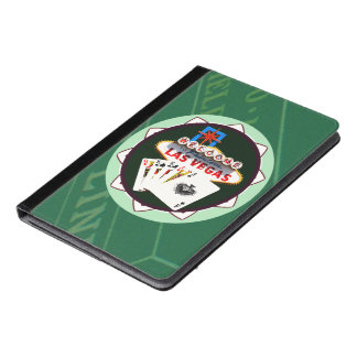 Las Vegas Sign And Two Kings Poker Chip iPad Air Case