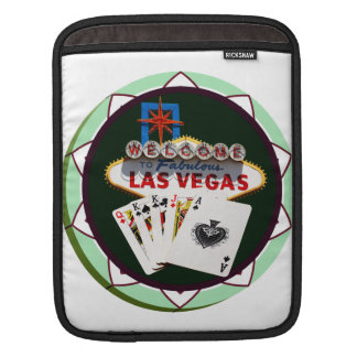 Las Vegas Sign And Two Kings Poker Chip iPad Sleeves