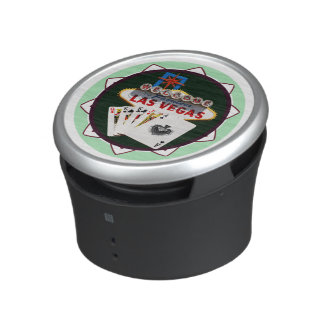 Las Vegas Sign And Two Kings Poker Chip Speaker