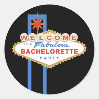 Las Vegas Sign Bachelorette Party Favor Stickers