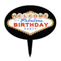 Las Vegas Sign Birthday Party Cake Topper