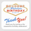Las Vegas Sign Birthday Party Favor Stickers