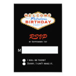 Las Vegas Sign Birthday Party RSVP Personalized Announcement