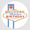 Las Vegas Sign Birthday Party Stickers