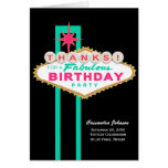 Las Vegas Sign Birthday Thank You Note Card
