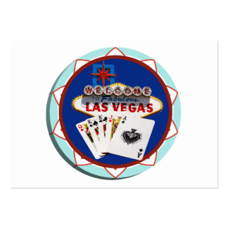 Las Vegas Sign & Cards Poker Chip Business Card Template