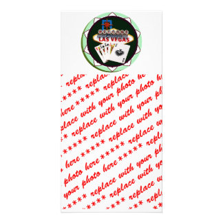 Las Vegas Sign & Cards Poker Chip Picture Card