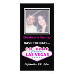 Las Vegas sign contemporary wedding Save the Date Card
