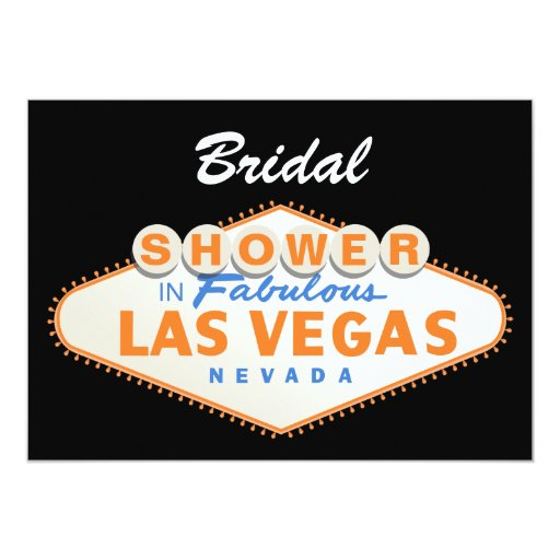 Las Vegas Sign Destination Wedding Bridal Shower Card