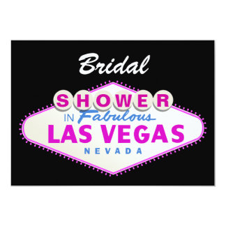 Las Vegas sign destination wedding bridal shower 5x7 Paper Invitation Card