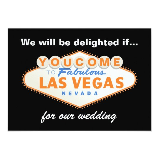 Las Vegas Sign Destination Wedding Invitation