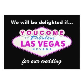 Las Vegas sign destination wedding invitation