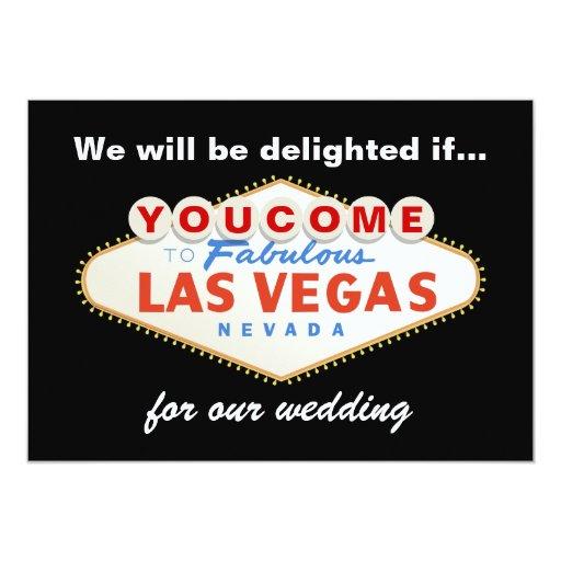 Las vegas sign destination wedding invitation zazzle for Las vegas sign wedding